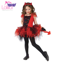 New design customized kids costumes wholesale devil halloween costume for kids
