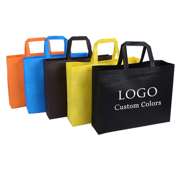 Custom Printed Logo Gift promotion Eco Friendly Reusable Grocery Pack Recyclable non woven bags