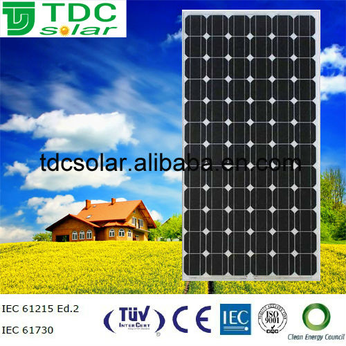 Solar energy 185w mono solar panels, chinese solar panels for sale