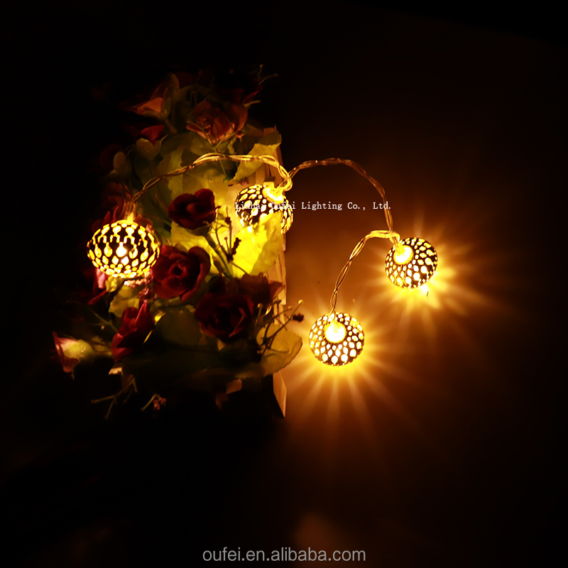 Holiday Lighting New Arrival DeLED Globe String lights Moroccan Ball Lights For Christmas Festival