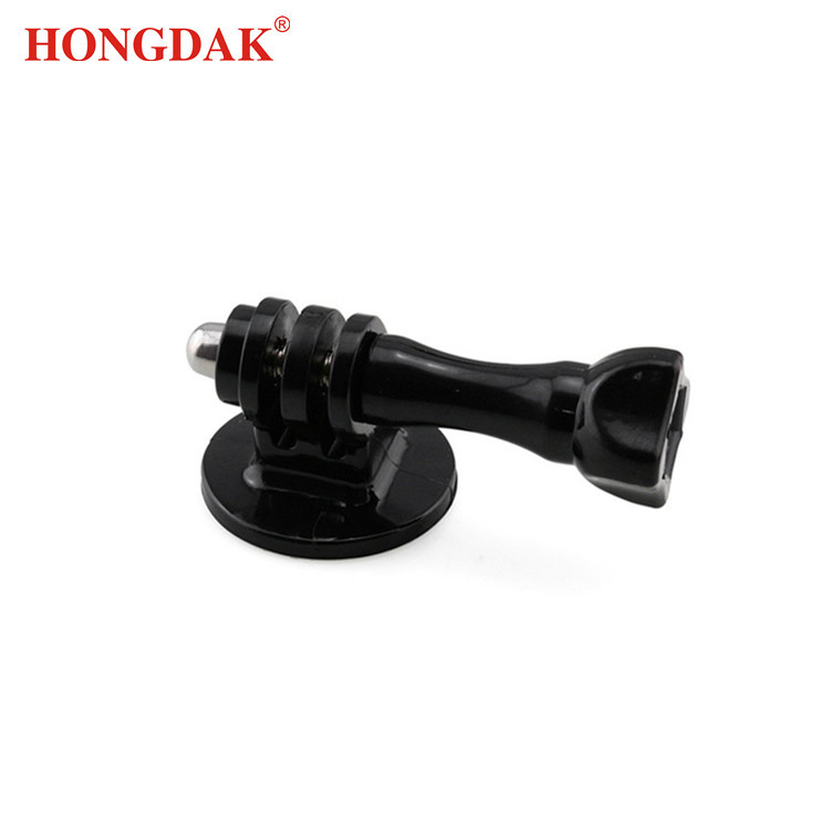 HONGDAK Gopros Action Camera Accessory Black Tripod Mount Adapter with Long Screw