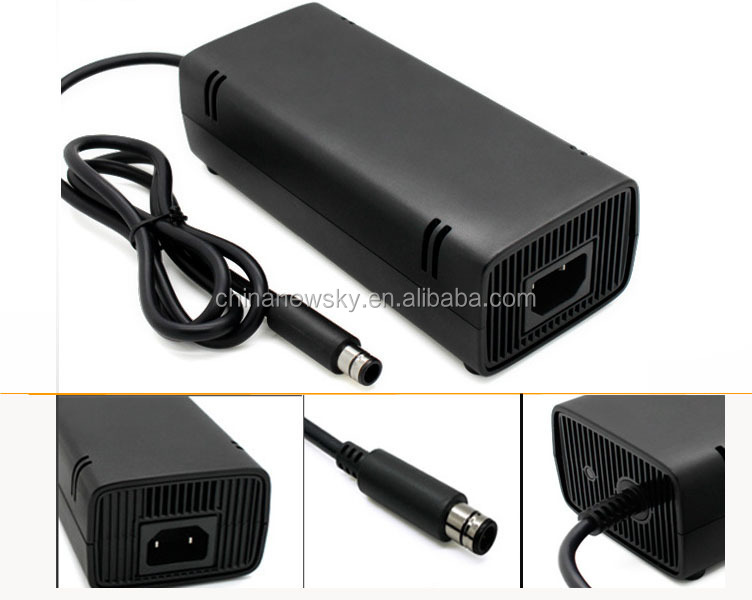 AC Adapter Charger Power Supply Cord for Xbox 360 Xbox360E Brick Game Console US/EU/UK Plug