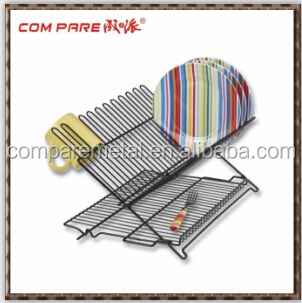 table standing metal chrome kitchen folding dish rack