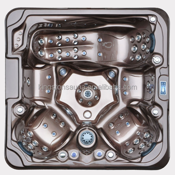 Luxury five person steel spa bath product JCS-37 with Pop-up TV