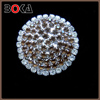 Hot sale rhinestone crystal round shape bling brooches for evening dress