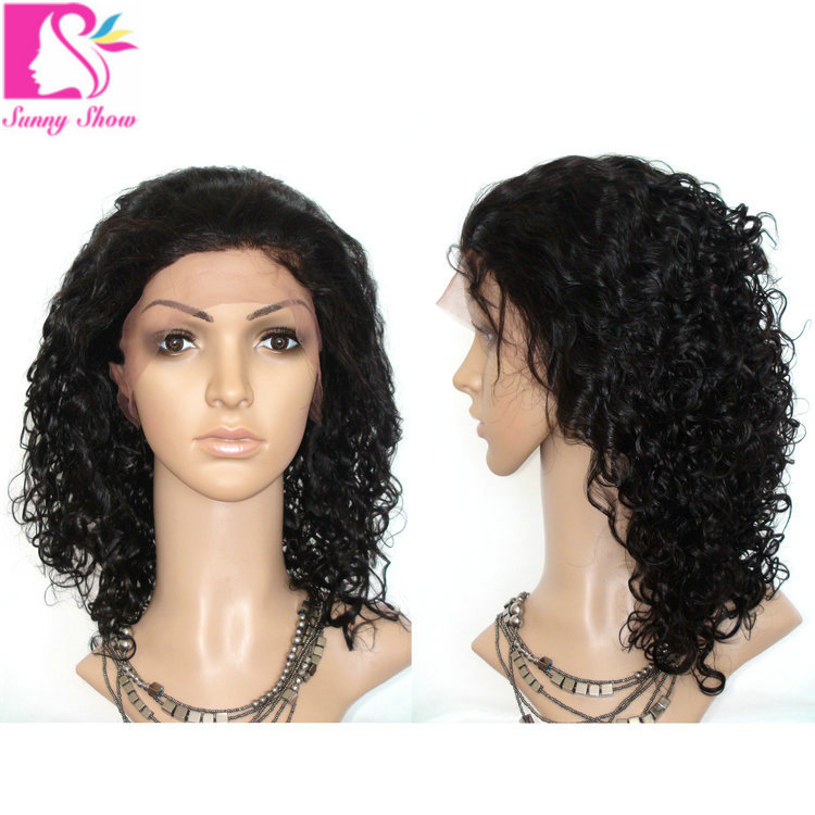97139acf563 Buy Glueless Full Lace Human Hair Wigs Kinky Curly Short Wig 100% Brazilian  Virgin Hair Lace Front Human Hair Wigs For Black Women in Cheap Price on ...