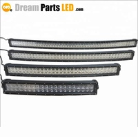 factory wholesale IP67 Black Panel truck 50 inch roof mount curved led bar light 288 watt dual row for Chevy Colorado