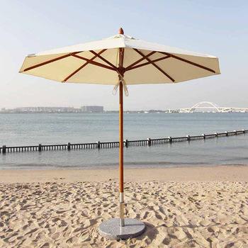 Middle Pillar Hotel Pool Wood Umbrella