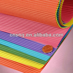 S&Q Colored Corrugated Paper E-B-C-A Flute Corrugated Wrap Rolls