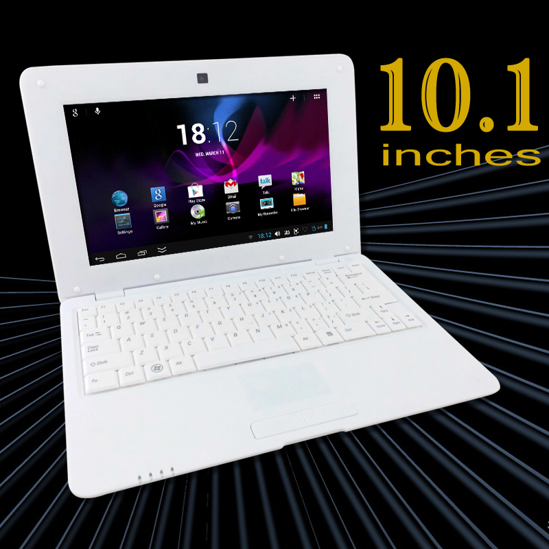 2015 cheap white 10 inch mini dual core laptop netbook android 4 2 keyboard netbook computer. Black Bedroom Furniture Sets. Home Design Ideas