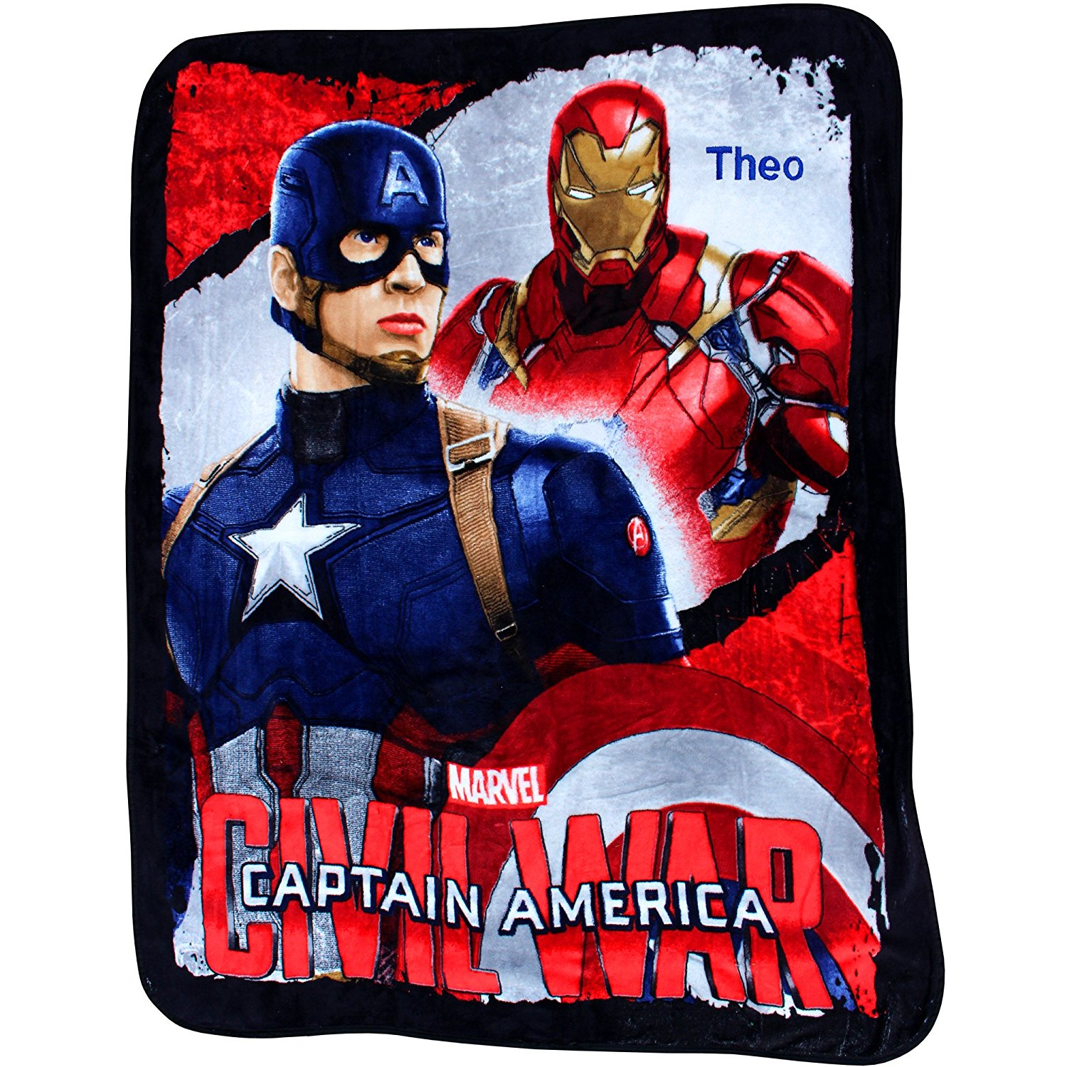 Personalised MARVEL Avengers Captain America Civil War Extra Large Fleece Blanket (One Name)