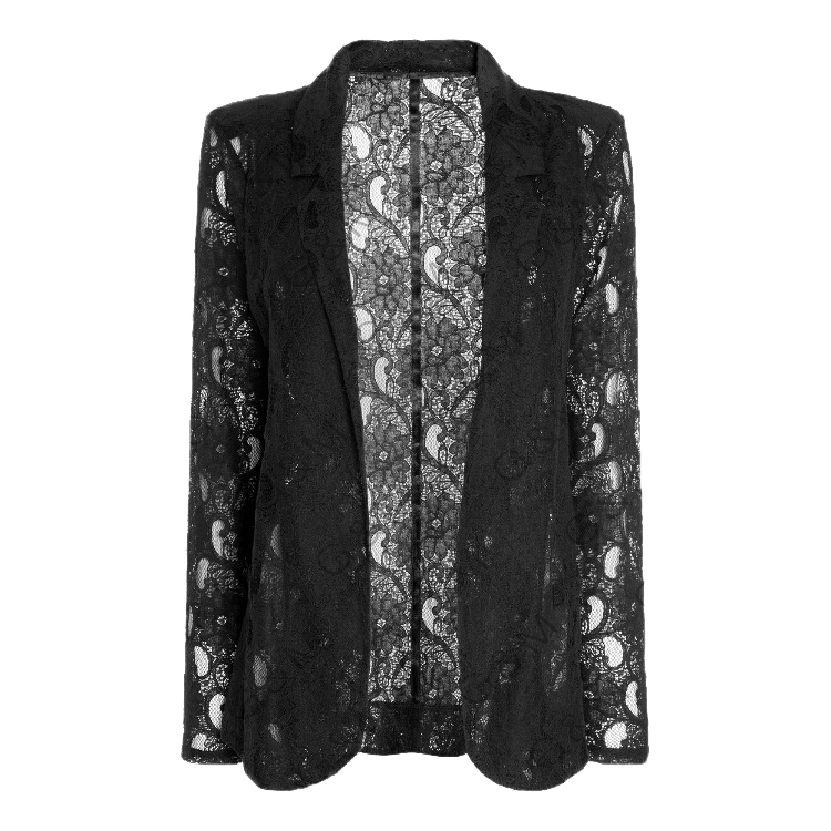 5167af24afc Get Quotations · 2015 Lace Black Blazer Women Blazers And Jackets Spring  Long Sleeve Coat Slim Suit Outerwear Blaser
