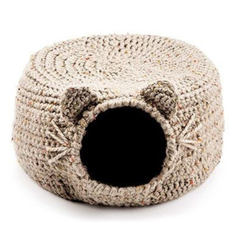 Cat Igloo Crochet Pattern Custom Hand Made Dog Bed Pet Bed Cave