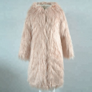 Long hair imitation fur coat in winter fluffy thick warmer hoodie coat fashion coat