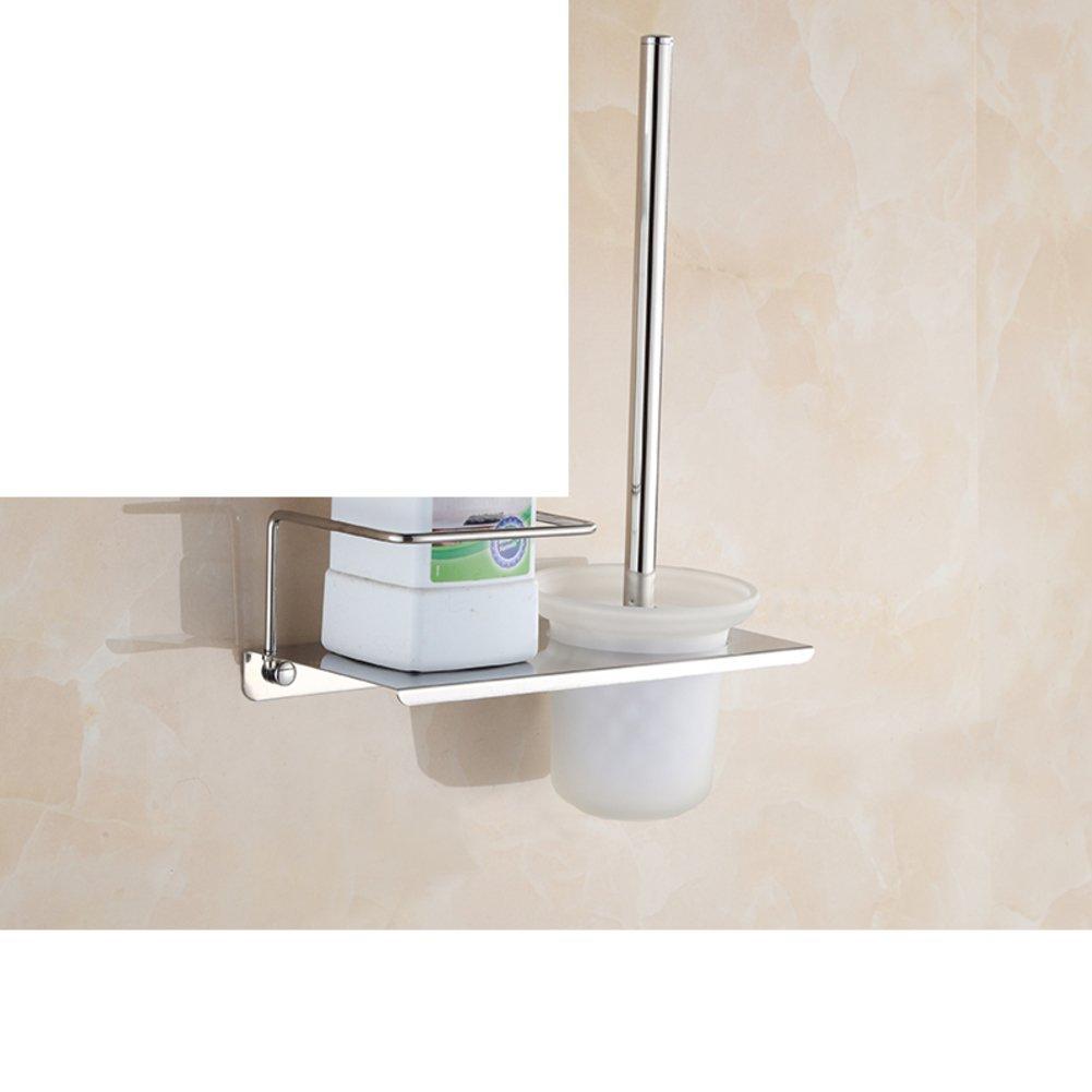 Stainless steel toilet bathroom suite/Multifunction toilet toilet shelving/ Toilet brush-B