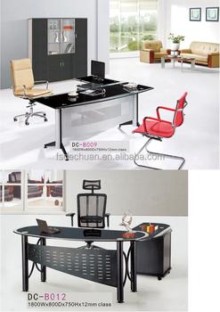 trestle office desk. Moderne Glas Top Schraag Bureau Met Metalen Been Op Verkoop Trestle Office Desk 4