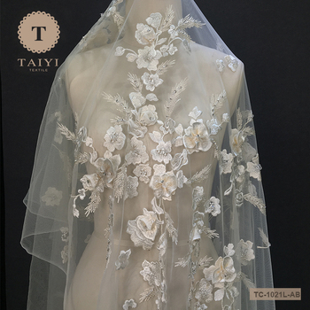 Tulle Bead Lace With Garment Accessories From Guangzhou TAIYI