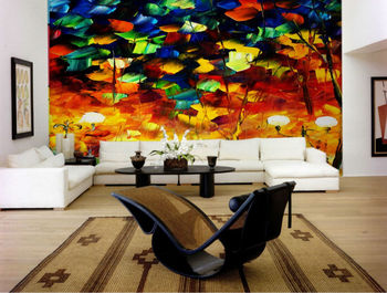 Decorative Abstract Night Sights Painting Interior Design Wall Mural