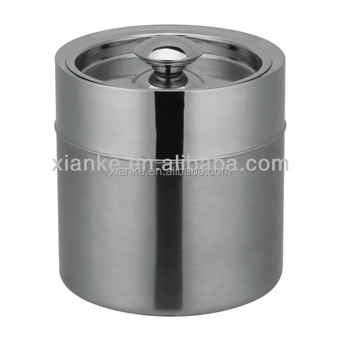2.0L Stainless Steel double wall champagne bucket metal beer tub
