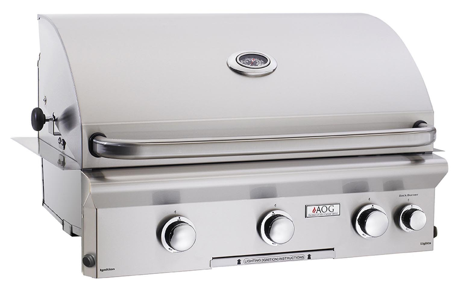 "30"" Built-In Natural Gas Grill with Rotisserie and Light"