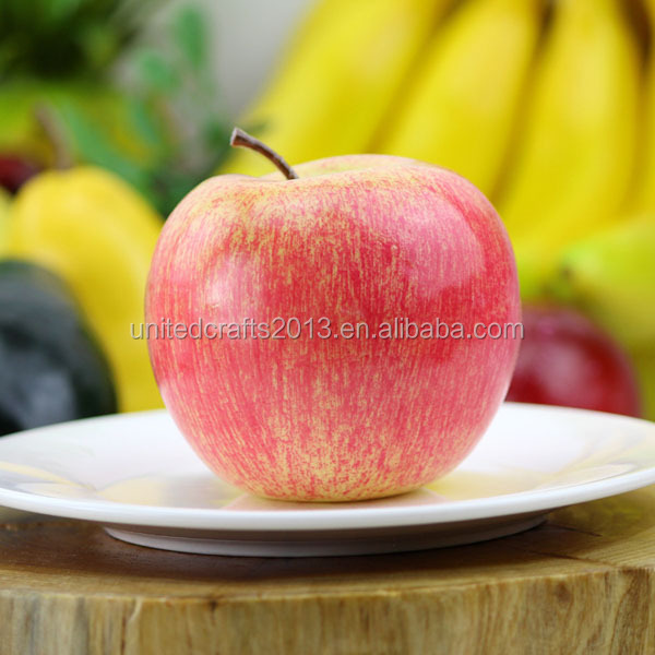 OEM wholesale cheap plastic artificial apple fruit for christmas ornaments