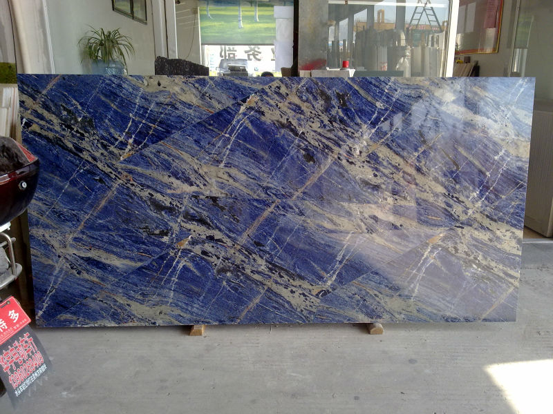 Marmi Di Carrara Laje De Granito Azul Bahia Bancada