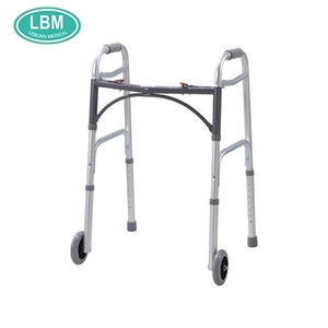 Rehabilitation equipment adjustable folding aluminum disabled rollator walkers for elderly