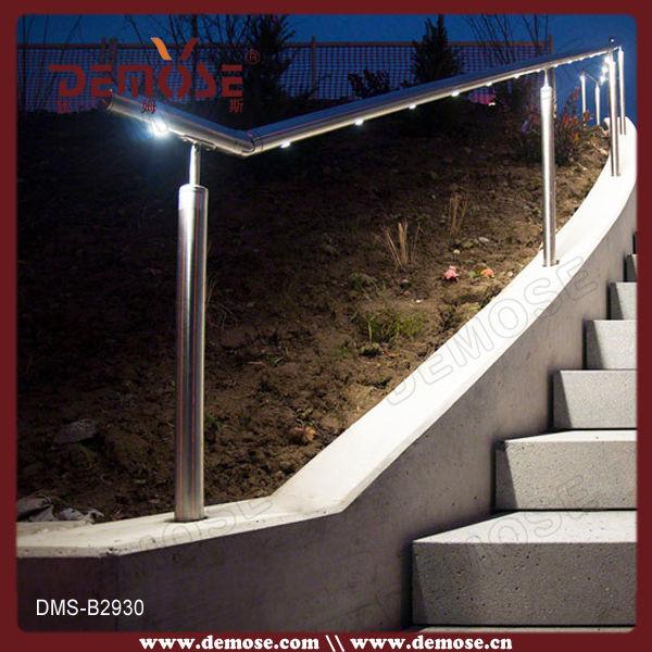 chine led clairage ext rieur balustrade d 39 escalier de tuyau d 39 acier inoxydable pour marches. Black Bedroom Furniture Sets. Home Design Ideas