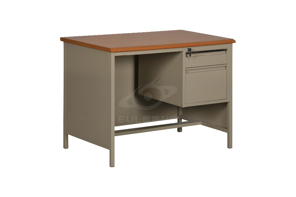commercial furniture steel office desk design one side two drawer