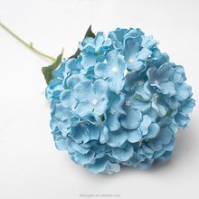 Wholesale Preserved Real Touch Blue Artificial Hydrangea Flowers for Wedding Decoration