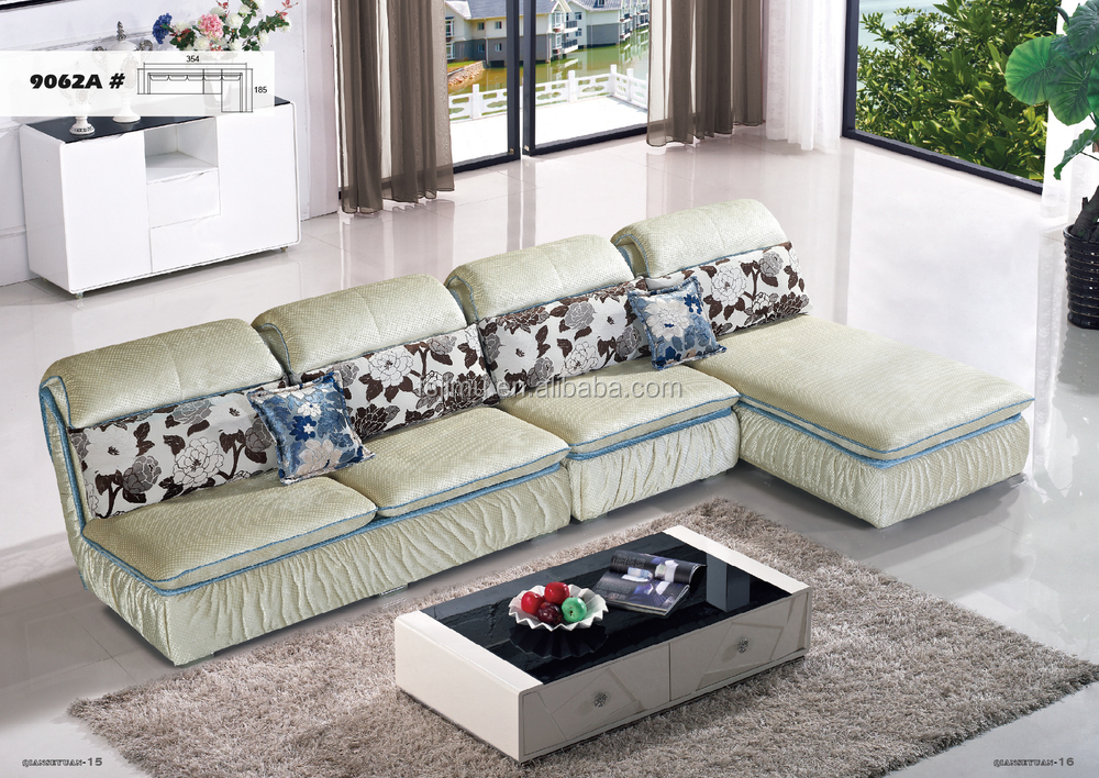 Mobília da sala de estar elegante vermelho tecido de luxo sofá de ...
