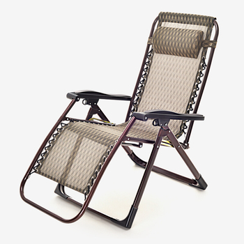Aluminum Folding Webbed Lawn Chair Chaise Lounge Square Tube