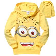 2015 despicable me 2 minion boys girls nova t-shirts kids children t shirts child Autumn hoodies Tops & Tees ATX019