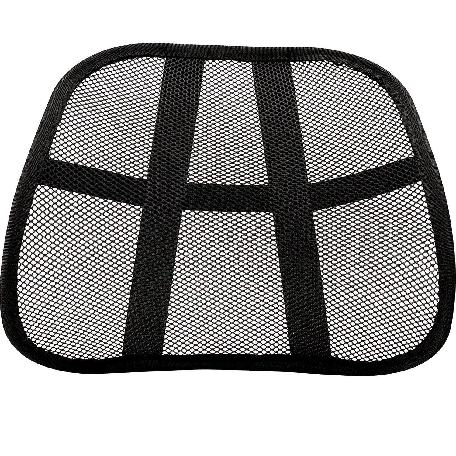 Plus Mi Life Cool Vent Cushion Mesh Back Lumbar Support New Car Office Chair Truck Seat Black