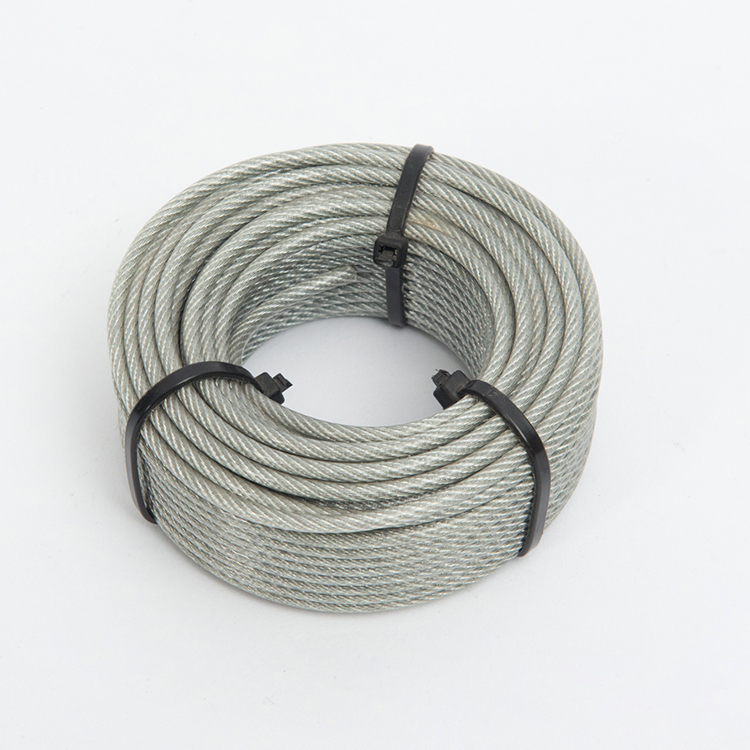 High Tensile TPU Coated Galvanized Steel Wire Rope