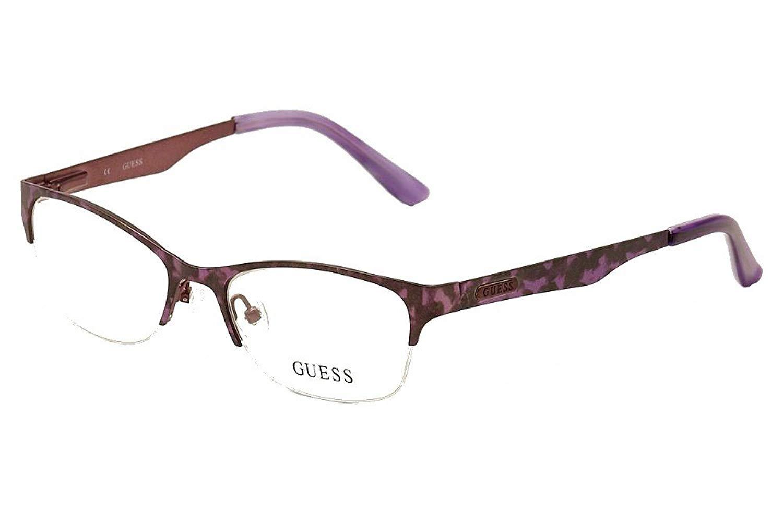 ffae39e4c2 Guess Women s Eyeglasses GU2469 GU 2463 PUR Satin Purple Semi Rim Optical  Frame 52mm