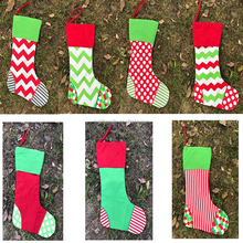 wholesale New Design Hot Sell 2017 Monogram Canvas Christmas Stocking