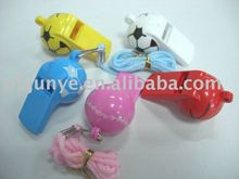 football fans whistle