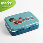 Eco-Friendly PP 6 Compartments Airtight Leakproof Keep Food Warm Kids Lunch Box Set With Spoon and Bottle Unique
