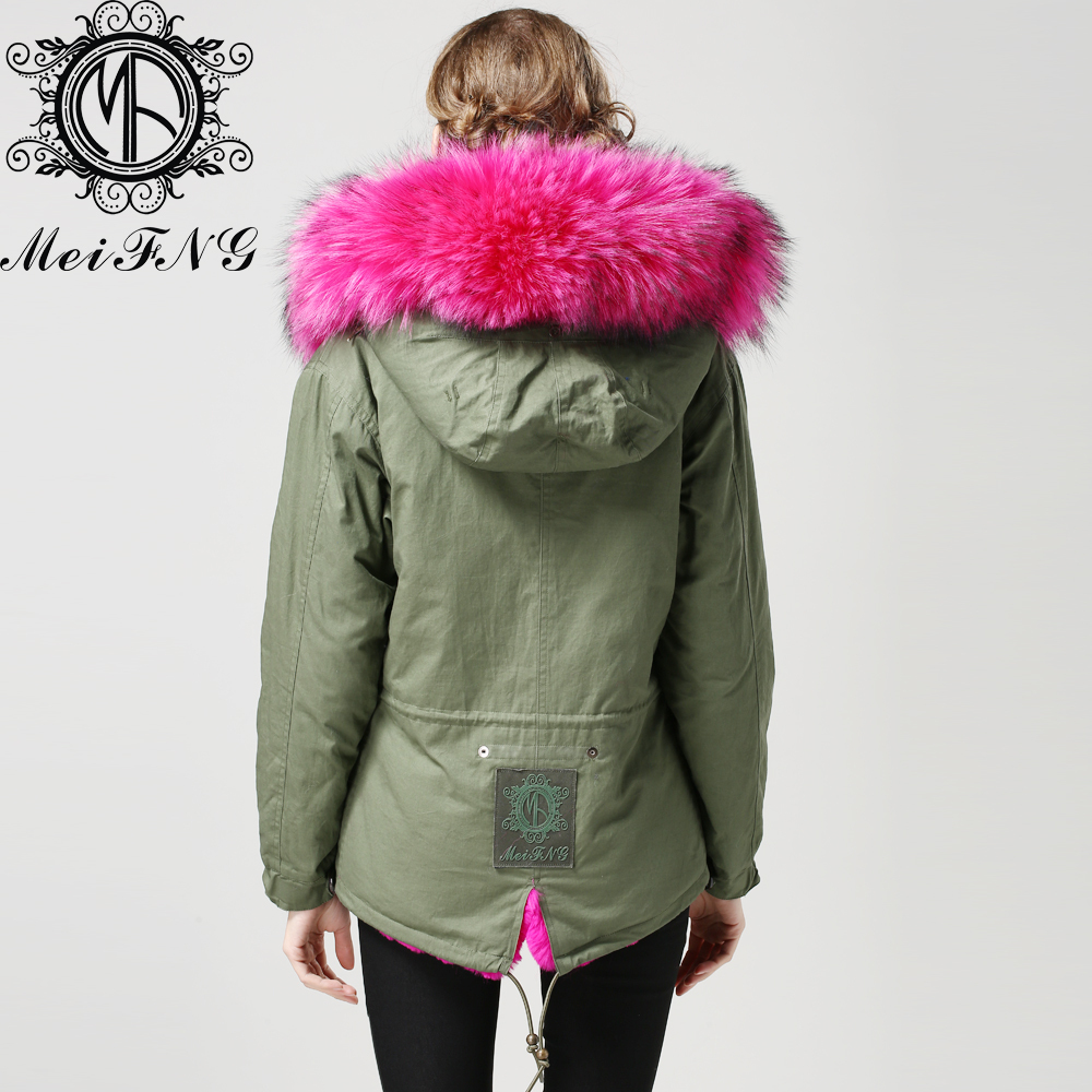 aef4bf1a75f38 Green Parka With Fur Hood Photo Album - Reikian. Collection Winter Coat ...