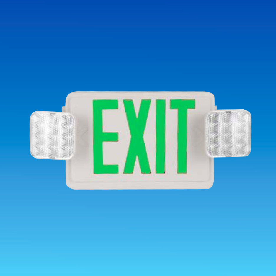 Emergency exit signs Green EXIT led, led rechargeable lights/ UL cUL