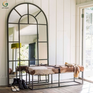 Modern metal frame home decorative arch wall window floor mirror