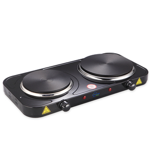 Twin Dual 2500W Electrical Double Hot Plate Portable Table Top Cooker Hob with Dual Temperature Controls ideal for Food Warmer