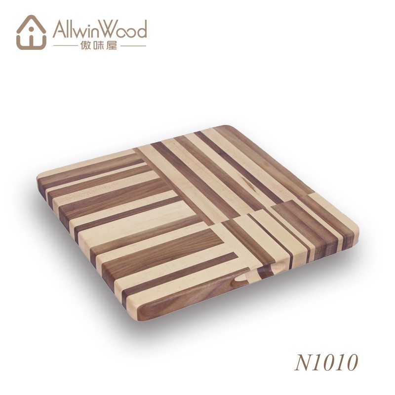 High Quality Food Safe Square Walnut Wood Chopping Board With ...