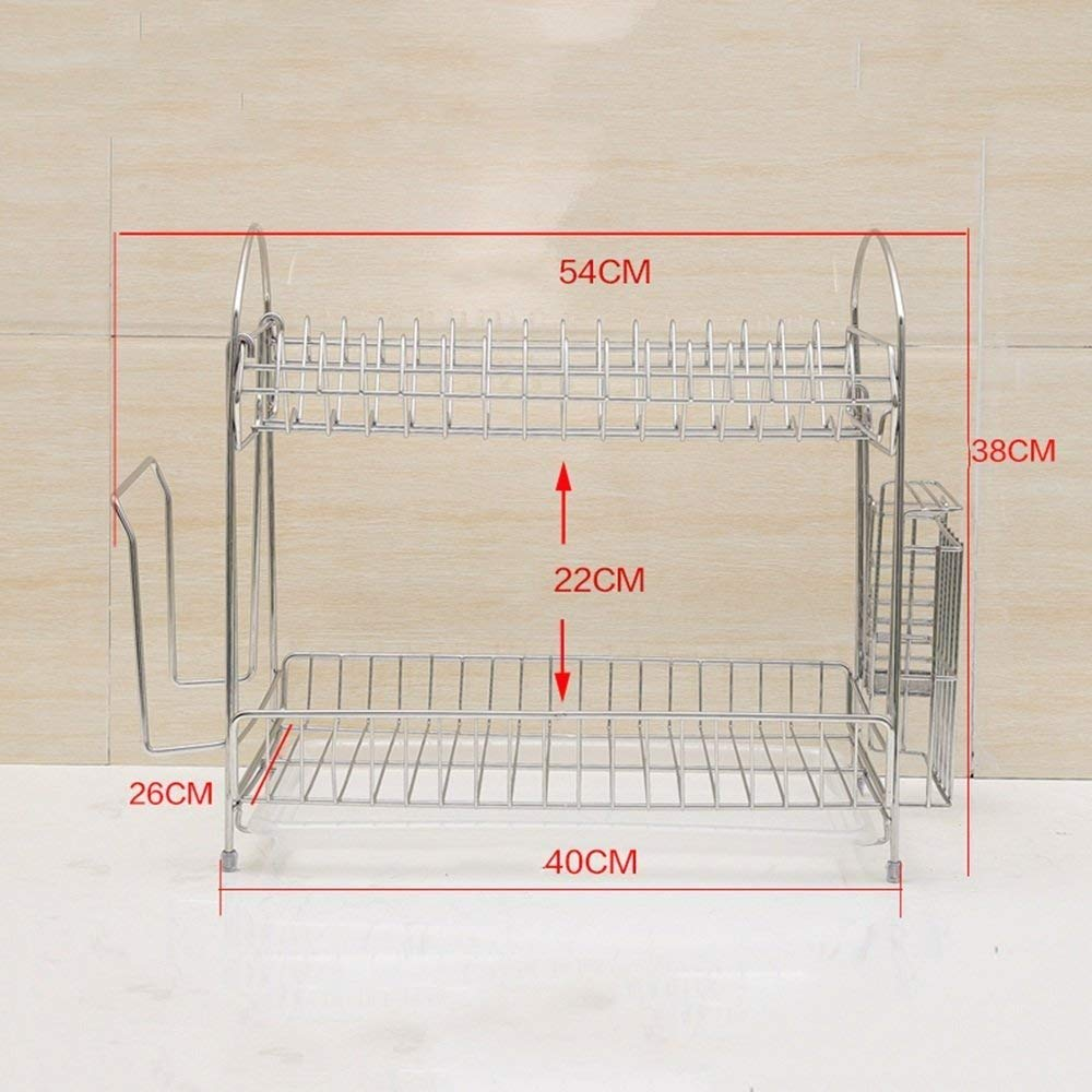 DEE Storage Rack 304 Stainless Steel Kitchen Utensils Racks Drainage Racks Drying Bowl Rack Tray Rack Sink Rack Kitchen Utensils