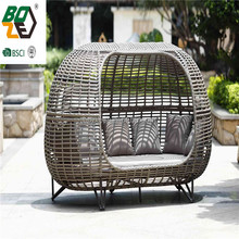 Garden Daybed Round Rattan Outdoor Furniture Daybed Sofa