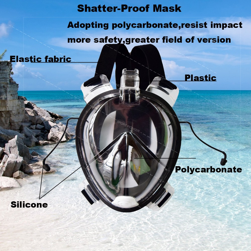 Hot sale silicone full face snorkel mask