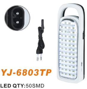 YJ-6803 YAJIA China Plastic Lamp Body Material and LED Light Source led emergency charging light