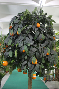 orange tree real touch Mini Potted Plants high simulation plastic bonsai tree