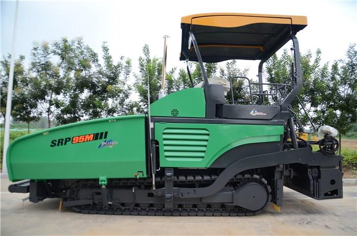 maquinaria de construcción shantui genuina asfalto mezcla caliente pavimentadora srp95m